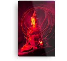 Red Buddha Metal Print