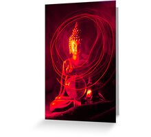 Red Buddha Greeting Card