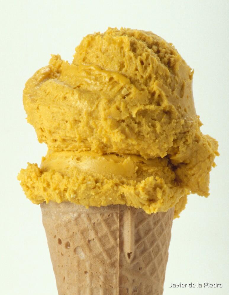 Lucuma ice cream on a wafer cone by Javier de la Piedra