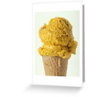 Lucuma ice cream on a wafer cone Greeting Card