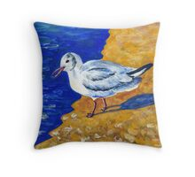Seagull at the Baltic Sea Throw Pillow