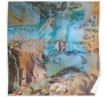 Desert and sea abstract Poster