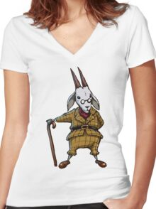 Goat - Tee Women's Fitted V-Neck T-Shirt