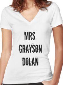 Mrs. Grayson Dolan Women's Fitted V-Neck T-Shirt