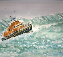 Severn class Lifeboat by GEORGE SANDERSON