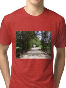 Looking Down a Country Road Tri-blend T-Shirt