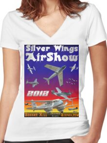 Silver Wings Airshow Design-2 Women's Fitted V-Neck T-Shirt