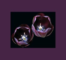 Dark and Mysterious - Burgandy Tulips Womens Fitted T-Shirt