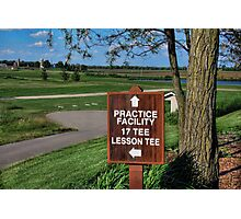 TimberPointe Golf Course Photographic Print