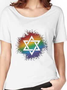 Rainbow Star of David Women's Relaxed Fit T-Shirt