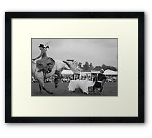 Side saddle Framed Print