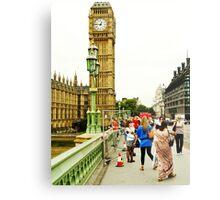 Smile Please: Tourists and Big Ben Metal Print