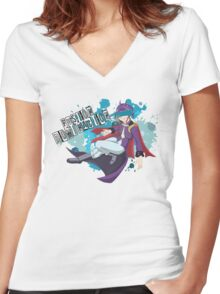 Fusion Domination  Women's Fitted V-Neck T-Shirt