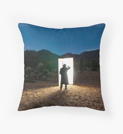 There are other worlds than these. Throw Pillow