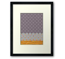 grey pattern  Framed Print