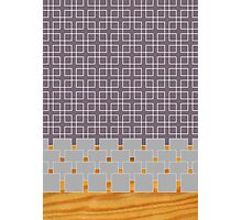 grey pattern  Photographic Print