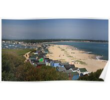 View of Mudeford Beach Poster