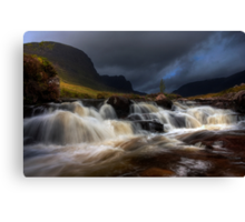 Russel Burn, Applecross, North West Scotland. Canvas Print