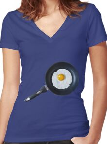 THIS IS YOUR BREAKFAST IN A SKILLET-2 Women's Fitted V-Neck T-Shirt