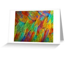 Feathers of the Rainbow Bird Greeting Card