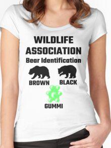 Wildlife Association Bear Identification Women's Fitted Scoop T-Shirt