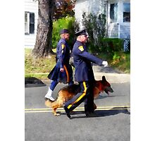 Policeman and Police Dog in Parade Photographic Print