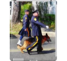 Policeman and Police Dog in Parade iPad Case/Skin