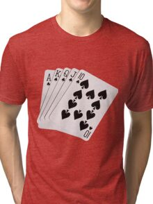 ROYAL FLUSH-2A Tri-blend T-Shirt