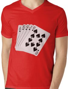 ROYAL FLUSH-2A Mens V-Neck T-Shirt