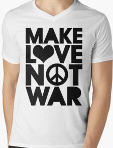 MAKE LOVE NOT WAR Mens V-Neck T-Shirt