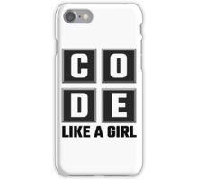 Code Like A Girl iPhone Case/Skin