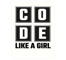 Code Like A Girl Art Print