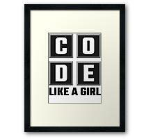 Code Like A Girl Framed Print
