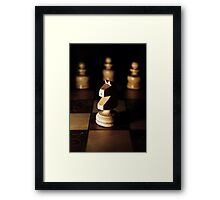 Chess Pieces Framed Print
