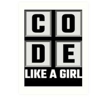 Code Like A Girl Art Print
