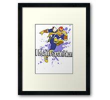 I Main Captain Falcon - Super Smash Bros. Framed Print