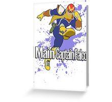 I Main Captain Falcon - Super Smash Bros. Greeting Card