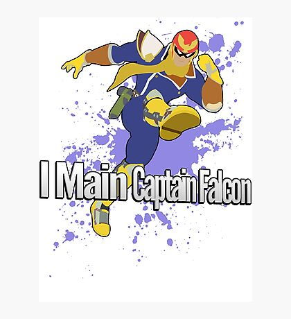 I Main Captain Falcon - Super Smash Bros. Photographic Print