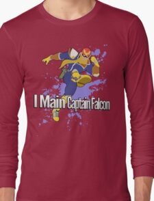 I Main Captain Falcon - Super Smash Bros. Long Sleeve T-Shirt