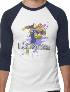 I Main Captain Falcon - Super Smash Bros. Men's Baseball ¾ T-Shirt