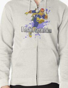 I Main Captain Falcon - Super Smash Bros. Zipped Hoodie