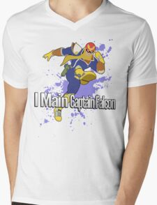 I Main Captain Falcon - Super Smash Bros. Mens V-Neck T-Shirt