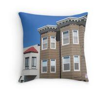 Houses in San Francisco Throw Pillow