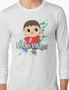 I Main Villager - Super Smash Bros. Long Sleeve T-Shirt
