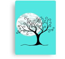 Swirly Tree and Moon - Simple and fun Canvas Print
