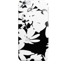 Silhouette of Flowers - Black and White iPhone Case/Skin