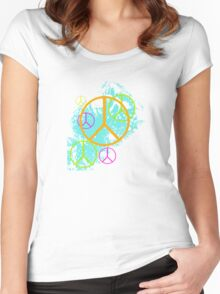 Grunge Peace Women's Fitted Scoop T-Shirt