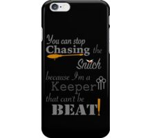 Quidditch Word Play- black background option iPhone Case/Skin