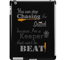 Quidditch Word Play- black background option iPad Case/Skin