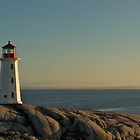 Peggy's Cove lighthouse on a Sunday afternoon by Javier de la Piedra